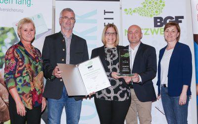 Gesunde Leistung: KATZBECK mit BGF-Preis ausgezeichnet