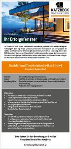 stelleninserat-tischler-tischlereitechniker-standort-rudersdorf