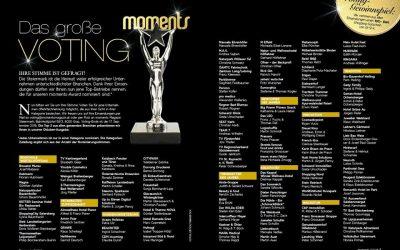 moments-AWARD 2018 – KATZBECK auch heuer wieder nominiert