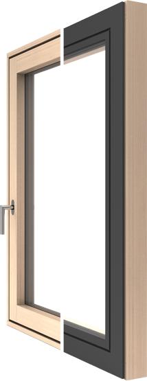FLAT Holz-Alu-Fenster